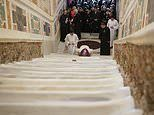 Holy Stairs Jesus 'climbed before being sentenced to crucifixion' are unveiled after 300 years