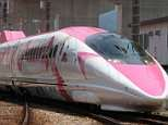 Hello Kitty bullet train is unveiled in Japan