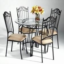 50 Inspirational Wrought Iron Dining Table Pics