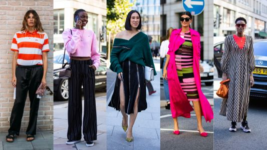 Showgoers Were All About Bold Stripes on Day 4 of London Fashion Week