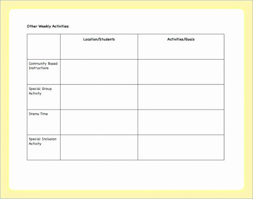30 Unique Pre Kindergarten Lesson Plan Template Pictures