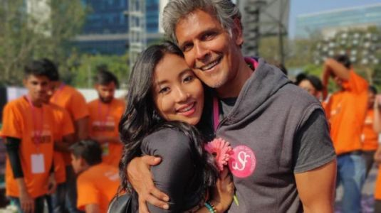 Ankita Konwar posts adorable pic with Milind Soman: I need you like a heart needs a beat