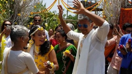 Here's what Milind Soman and Ankita Konwar wore for their mehendi ceremony