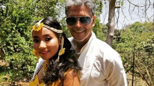 Milind Soman, Ankita Konwar are getting married; see pictures from mehendi ceremony