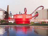 The wacky new Tony's Chocolonely mega chocolate factory that has a ROLLER COASTER running through it