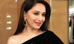 Madhuri Dixit Nene in this velvet gown looks like a midnight princess