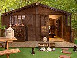 Home sweet home: Holidaymakers can now stay in a French cottage made entirely from CHOCOLATE