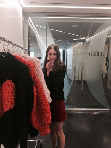 Knitty gritty: Self-taught knitter Nicole Leybourne turns heads at Vogue