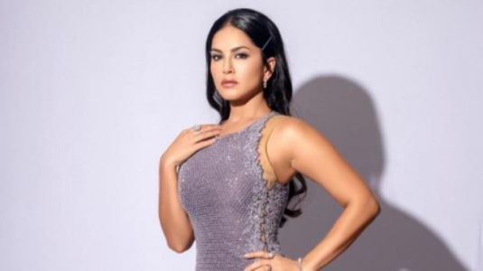 Sunny Leone in silver thigh-slit dress looks ravishing for new photoshoot. All pics