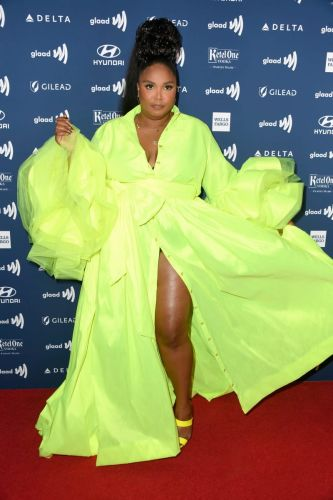 Great Outfits in Fashion History: Lizzo in Neon Green Christopher John Rogers