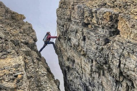 Indigenous climbing with Cassie Ayoungman