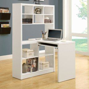 30 Awesome Computer Desk with Bookshelf Pics