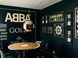 The ultimate holiday for ABBA fans: Inside the hotel room lined with the band's platinum records