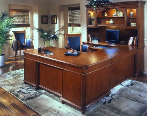 20 Unique U Shaped Executive Desk with Hutch Pictures
