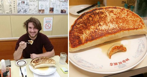 Tokyo restaurant challenges people to eat giant 2.5kg dumpling in an hour
