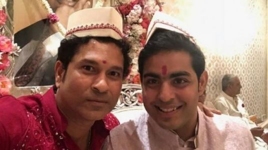 Sachin Tendulkar wishes Akash Ambani and Shloka Mehta with unmissable pic from wedding