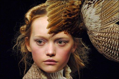 Gemma Ward on the runway of the fall/winter 2006 Alexander