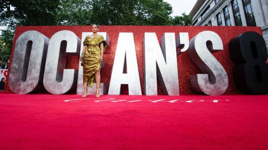 Rihanna Wears Glowy Makeup and Red Lipstick to Ocean's 8 London Premiere