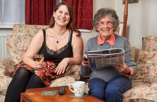 27-year-old and 95-year-old are the best of friends - and housemates