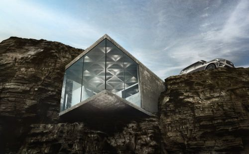 If you're sick of people, it's time to pack up and move to this stunning cliff side house
