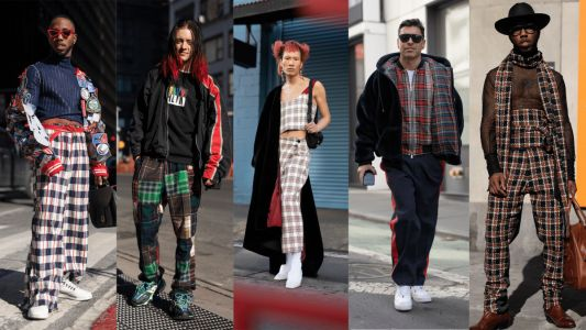 Everyone Wore Plaid At New York Fashion Week: Men's
