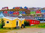 How the buildings in Greenland are colour-coded according to their purpose