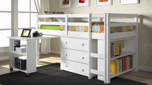 29 Fresh Twin Bed with Desk and Storage Images