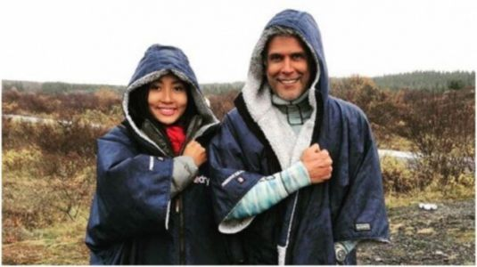 Milind Soman posts funny throwback pic with Ankita Konwar from a very cold place. Seen yet?