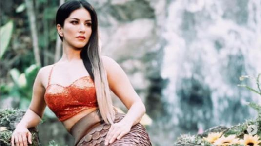 Sunny Leone channels inner Ariel in bralette and mermaid tail for new shoot