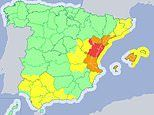 Flood alerts for Benidorm and Majorca as half-term weekend begins