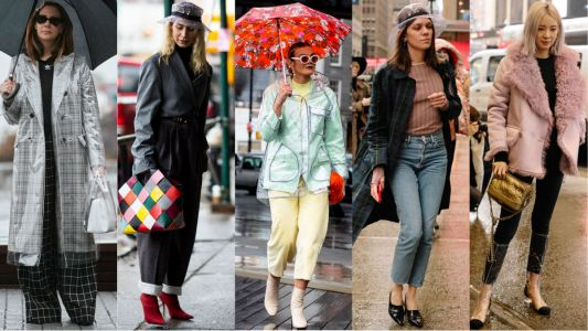 Showgoers Wore Clear Plastic Rain Gear for Day 4 of New York Fashion Week