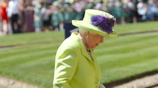 Queen Elizabeth Shows off Her Penchant for Lively Shades at the Royal Wedding