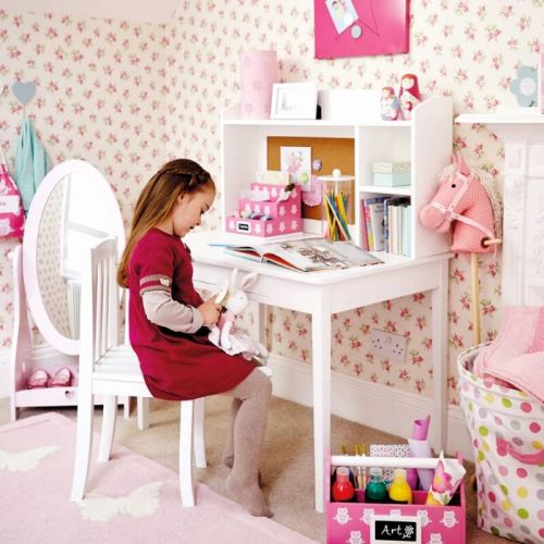 20 New Girls Desk with Hutch Graphics