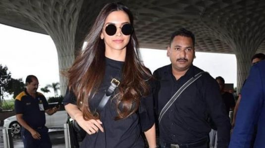 Deepika Padukone's black-on-black airport look is smoking hot. See Pics