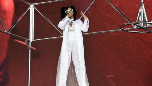 Cardi B Paid Perfect Homage to TLC in All-White Coachella Ensemble