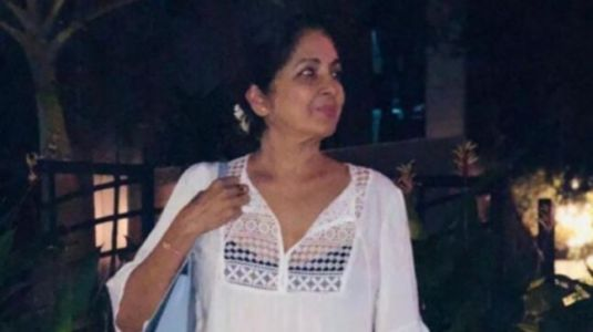 Neena Gupta in sheer mini dress on dinner date is all things sexy. See pics