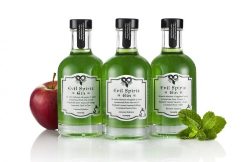 You can buy bright green, haunted gin for Halloween