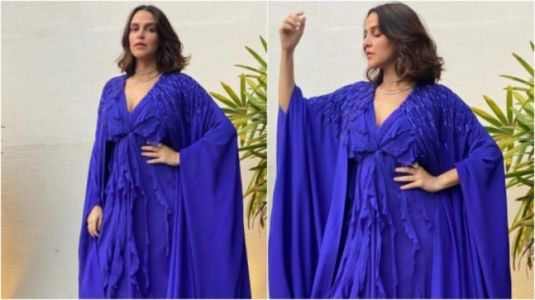 Neha Dhupia in Rs 44k cape dress will kill your Monday blues. See pics