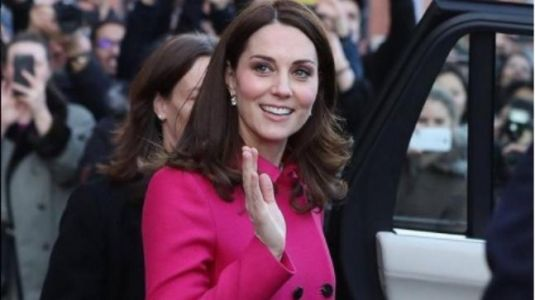 Kate Middleton stepped out looking radiant in this pink coat dress