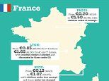 The amount European cities are charging in tourism tax