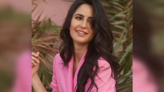 Katrina Kaif channels her inner boss lady in blush pink outfit. We love it