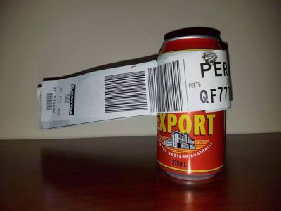 Heroic Australian man checks in a single can of beer for a flight