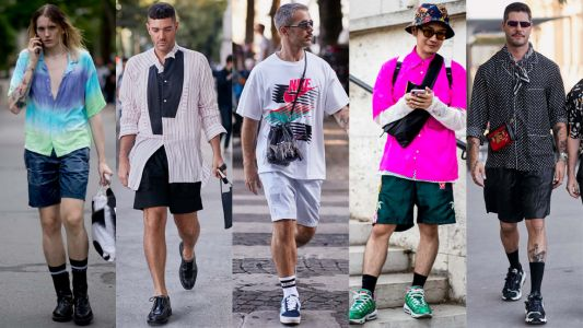 Loose, Sporty Shorts Were a Street Style Staple at Paris Fashion Week Men's