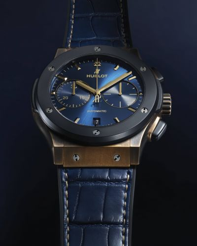 Hublot and Bucherer's collaborative masterpiece, the Classic Fusion Bronze Bucherer Blue is here