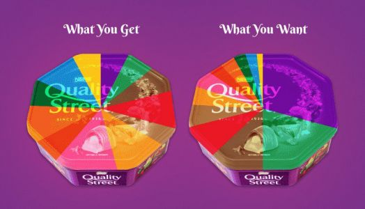 You really don't get the same number of each chocolate in boxes of Quality Street