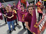 Flight chaos as thousands of staff at Australia's five main airports walk off the job to protest