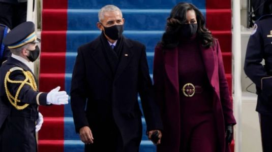 Michelle Obama's power look for Biden's inauguration was by designer Sergio Hudson