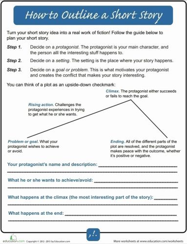 30 New Short Story Template Word Pictures