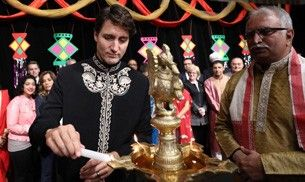 Hold your breath, because Justin Trudeau is celebrating Diwali dressed in a kurta