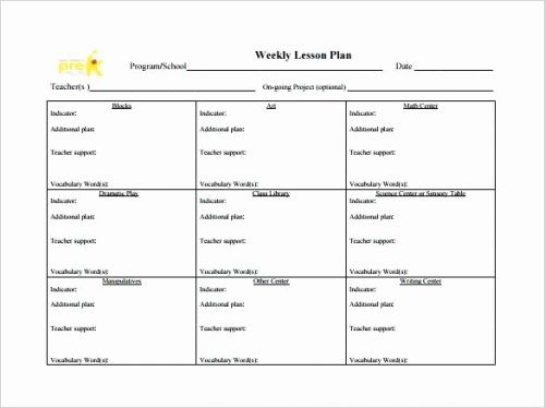 30 Fresh Weekly Lesson Plan Template Word Pics